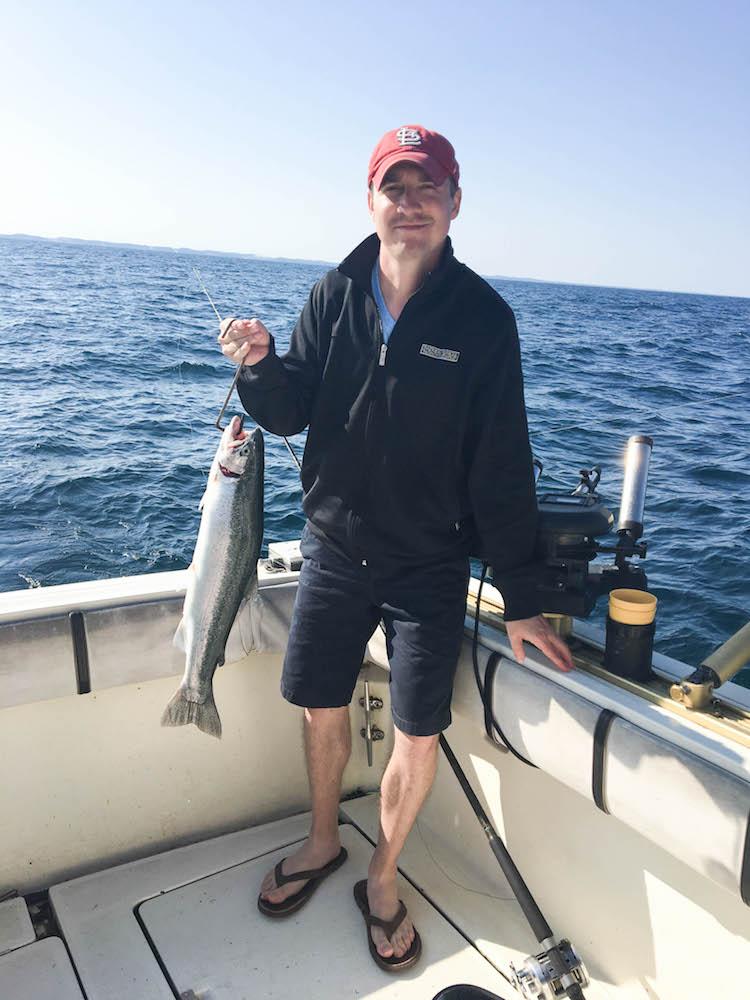 lake fishing on Lake Michigan