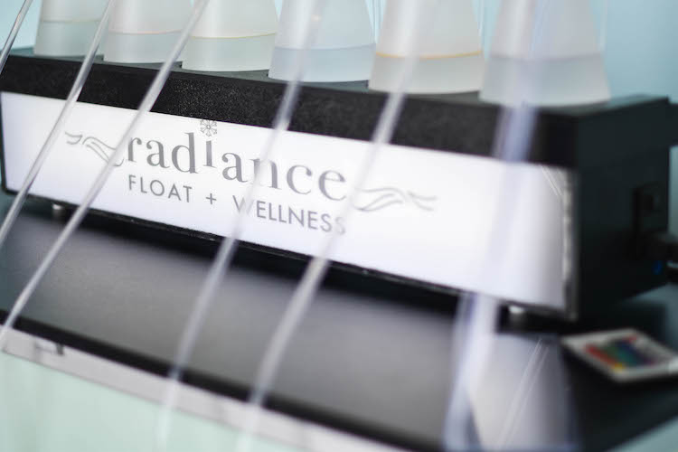the oxygen bar at Radiance Float & Wellness