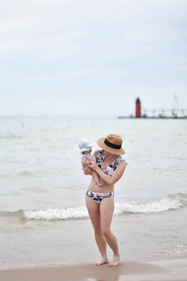 love this swimsuit for moms - a modest bikini that doesn't budge