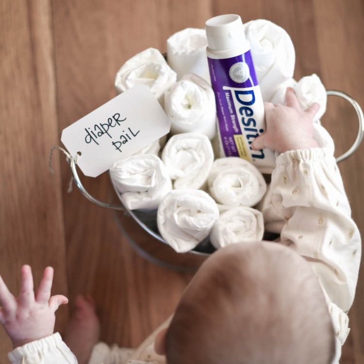 Modern Baby Shower Gift: DIY Diaper Pail
