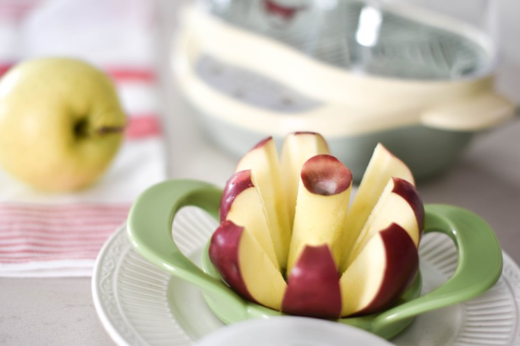 an apple corer makes it so much easier to steam apples for BLW