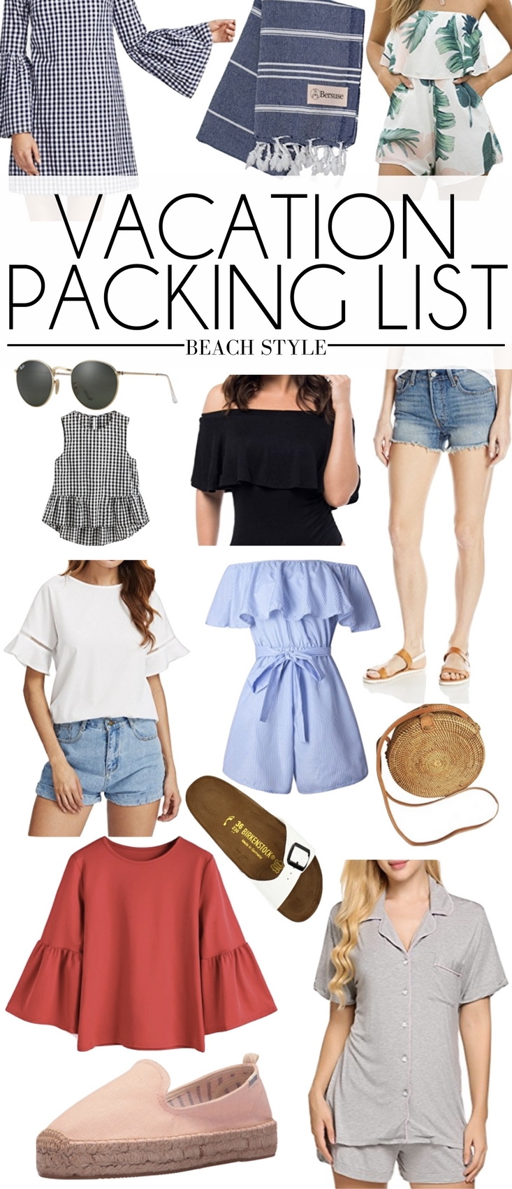 this is the cutest stuff for a beach vacation - mexico vacation style & vacation packing list