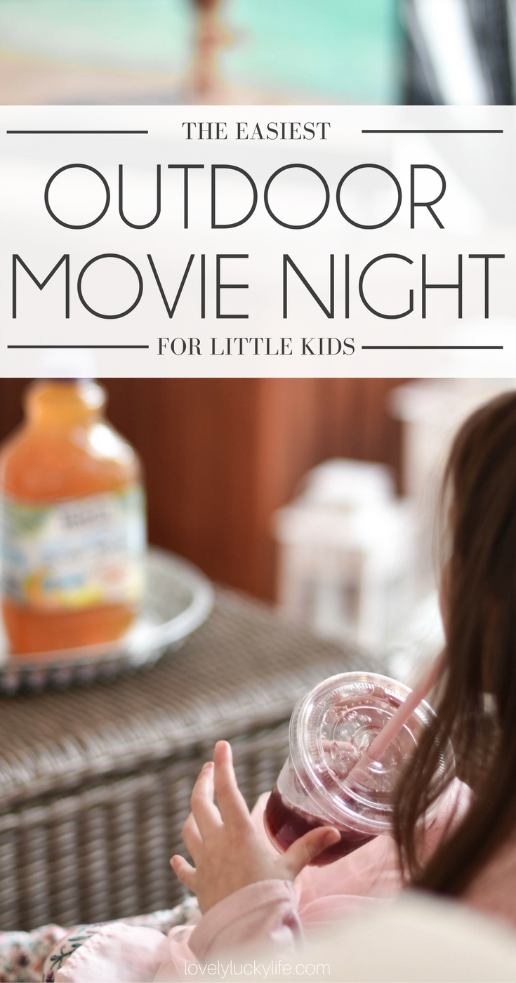 the easiest luau themed outdoor movie night ideas - movie night snacks & movie party ideas - hawaiian movie night