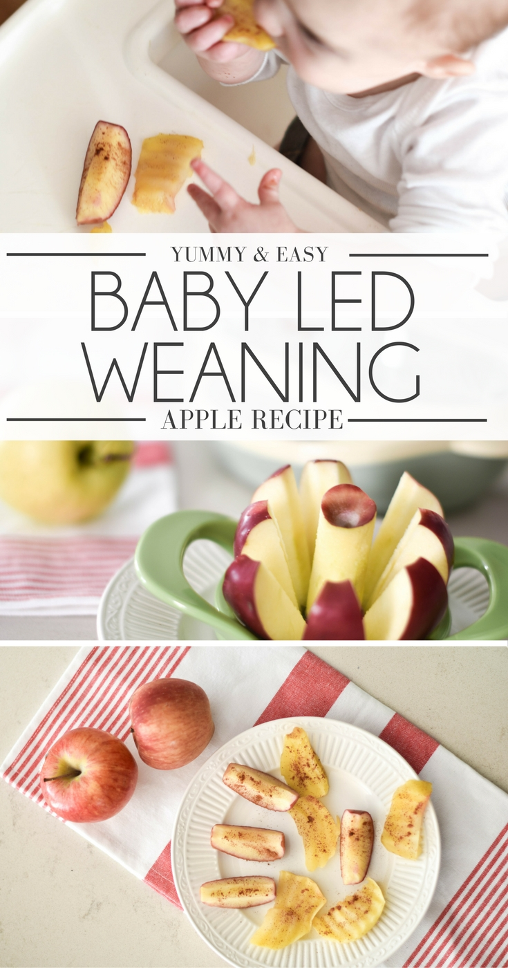 baby led weaning first foods - steamed apples are so easy! ready in 5 minutes, healthy, organic and tasty for baby's first foods!