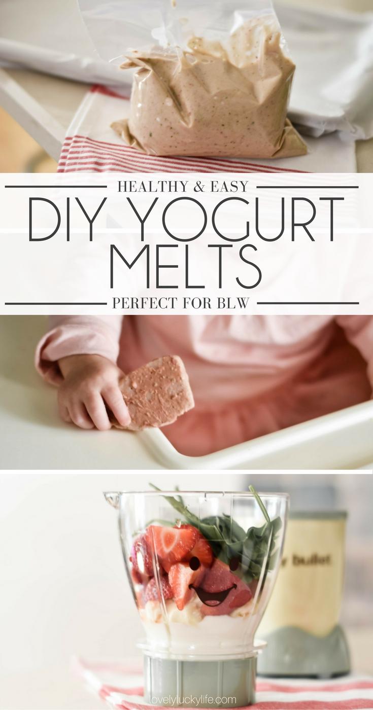 such a good idea for babies! easy DIY yogurt melts tutorial