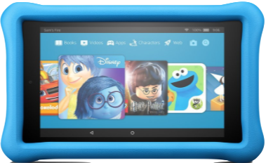 love the Amazon Fire tablet for kids - makes a great Christmas gift under $100 for a 4 year old
