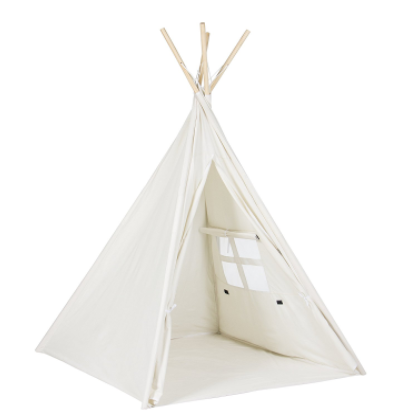 big christmas gift for 2 year old - this teepee is under $50 and I love how it's neutral and would match any room or decor