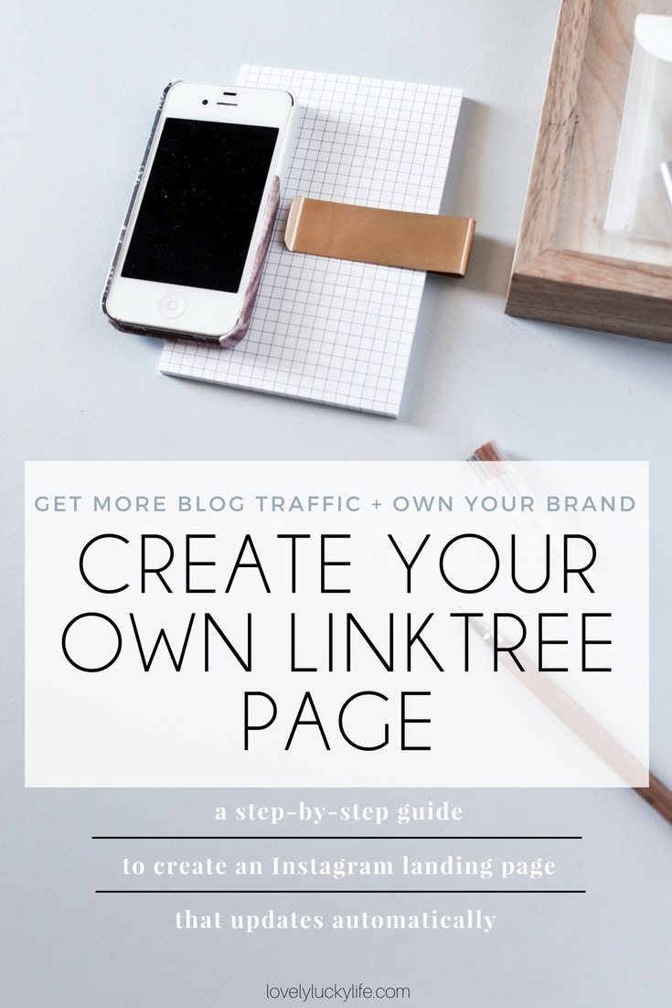 this tutorial on how to make your own link tree page is a MUST for any blogger or Instagrammer - creating your own Instagram landing page will give you more traffic + control of your brand!