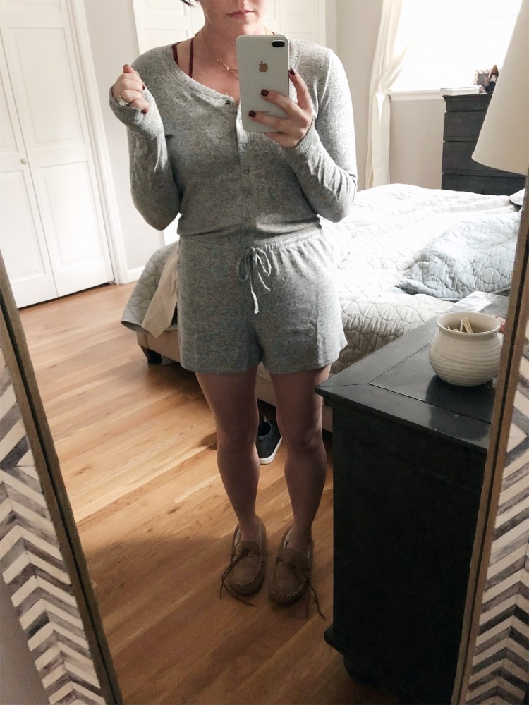 grey sleep romper