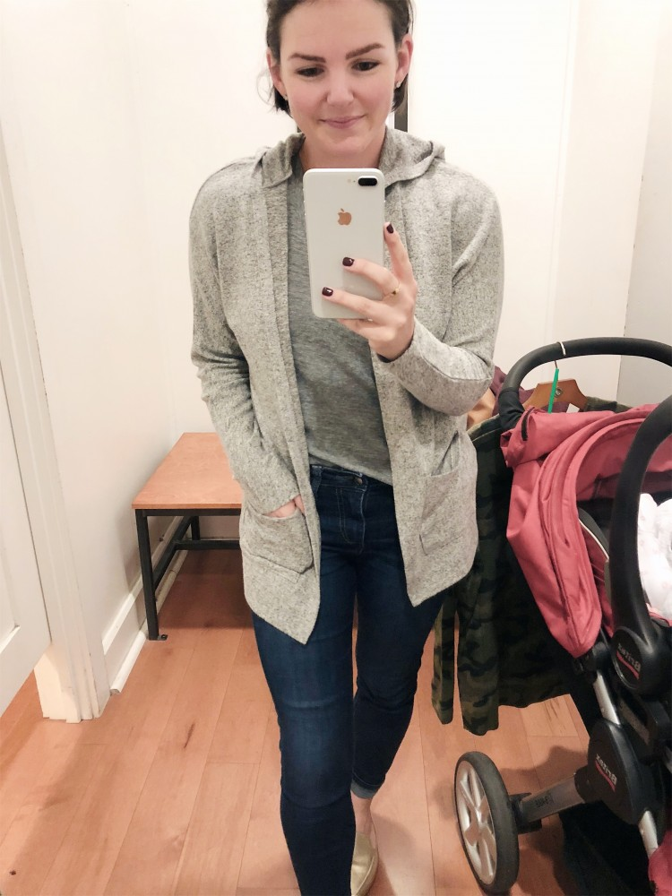 Love this American Eagle grey hooded cardigan