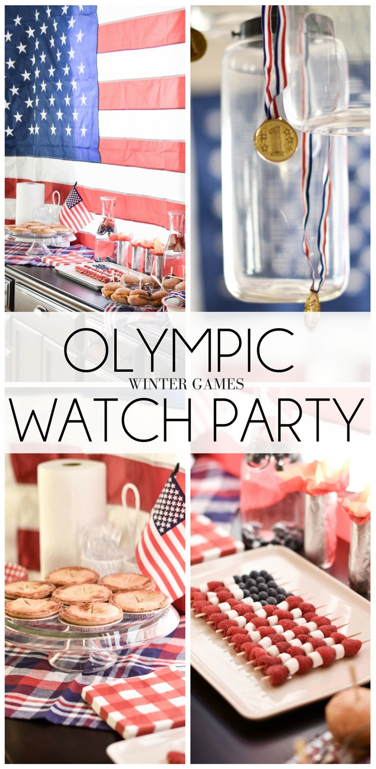 how to throw the cutest Olympic winter games watch party - the all-American menu + the Team USA decorations = adorable America party!