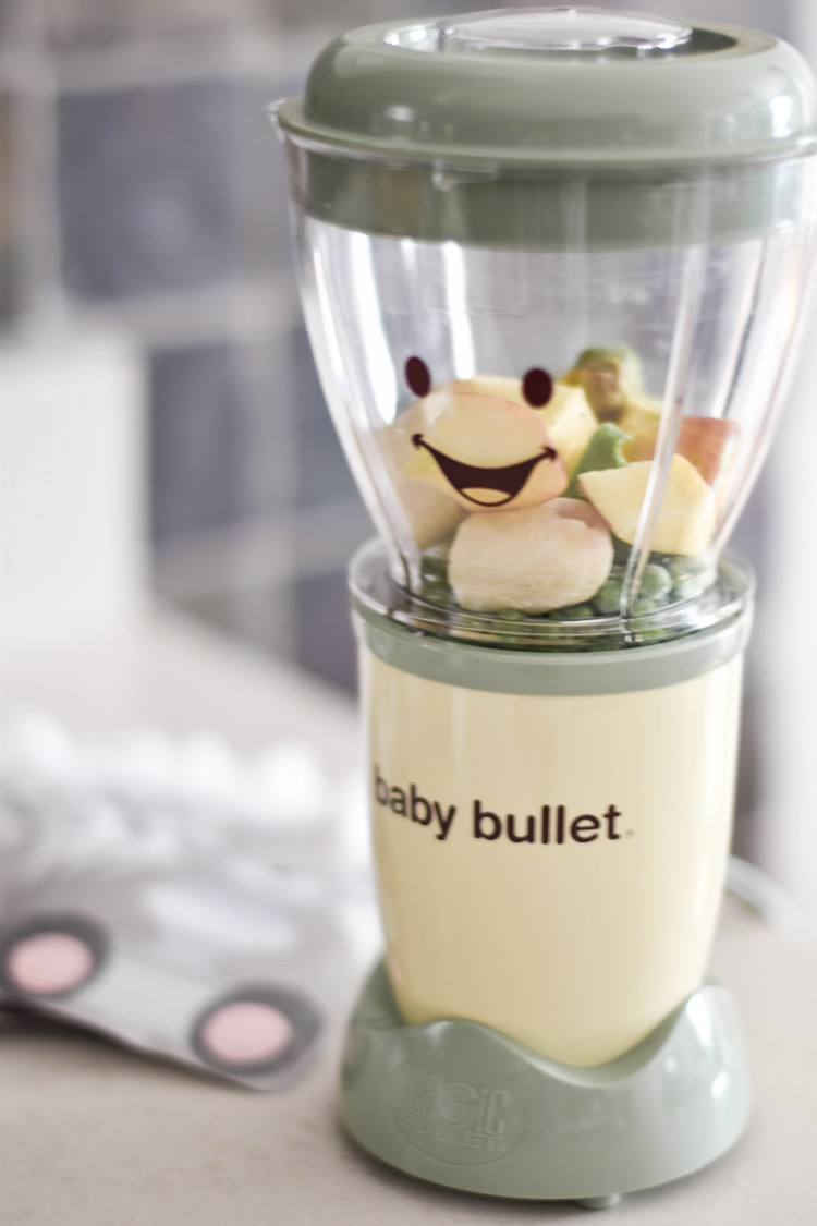 the Baby Bullet baby food maker is amazing for pureeing fresh, healthy ingredients for baby food