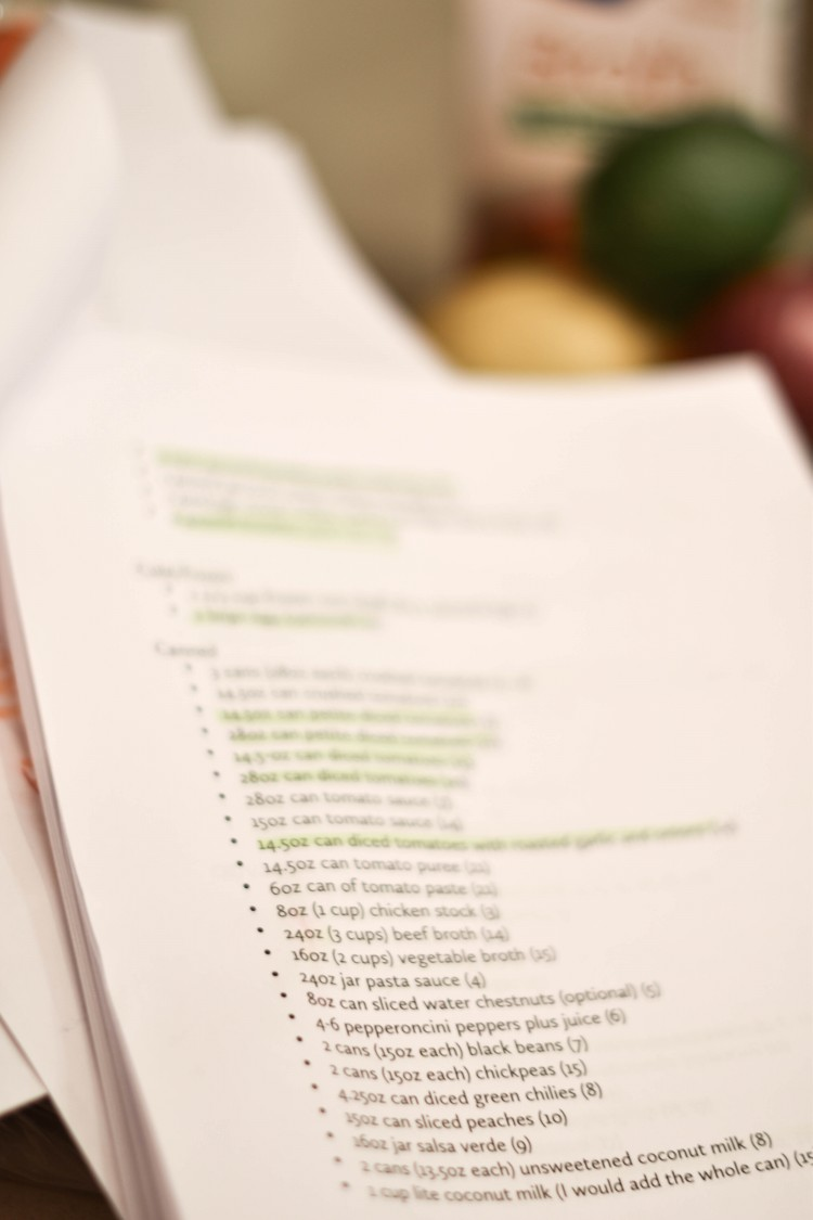 easy meal prep tip for moms: print everything! print the ingredient list and take inventory of the ingredients you already have. get more meal prep tips from a real mom of 3 here