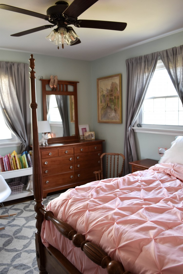 this bedroom proves girls' rooms don't have to be pink to be sweet! love this color scheme for a girl's room
