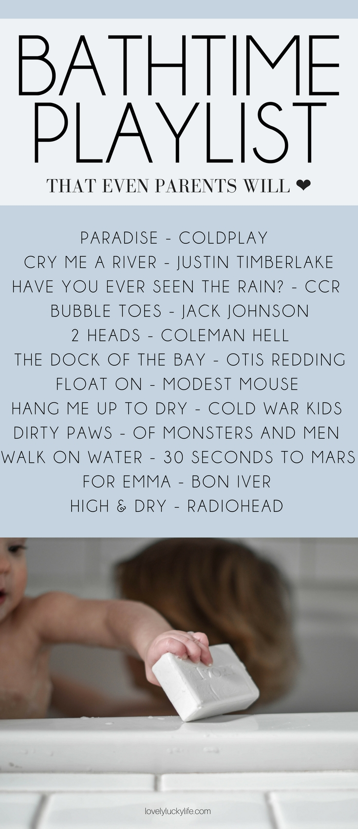 this playlist for bath time is so good - kid-friendly but full of songs for adults