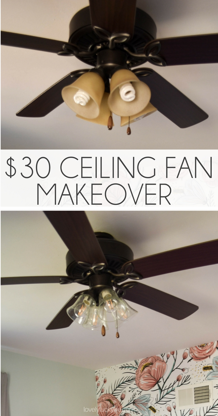 this DIY ceiling fan makeover is so smart! refresh any fan in your house in 15 minutes & for less than $30 #diy #farmhousestyle #houserefresh