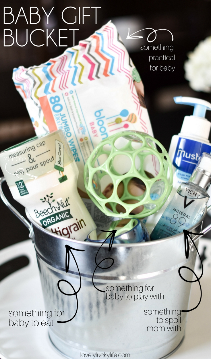 anatomy of a perfect baby shower gift basket - follow this equation to give the best baby shower gift every time! #baby #gift