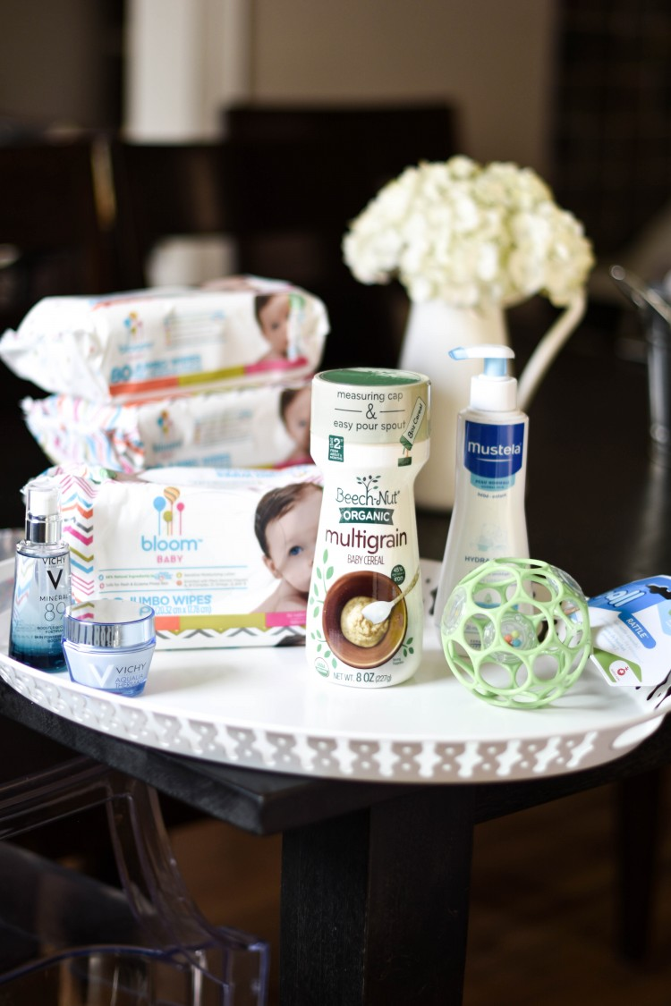 love these ideas for a baby shower gift basket