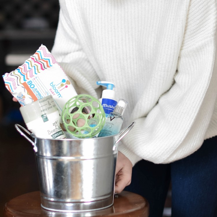 how to make a baby shower gift bucket