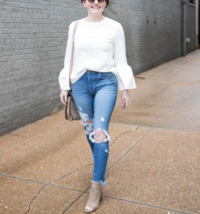 Momiform Essential: How to Wear Distressed Jeans 2 Ways + Evereve Grand Opening at The Galleria