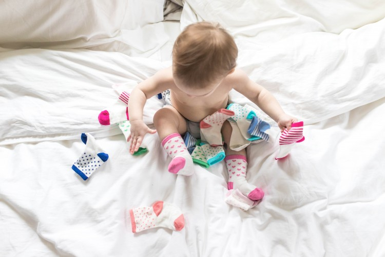 such an adorable pic - cute baby socks