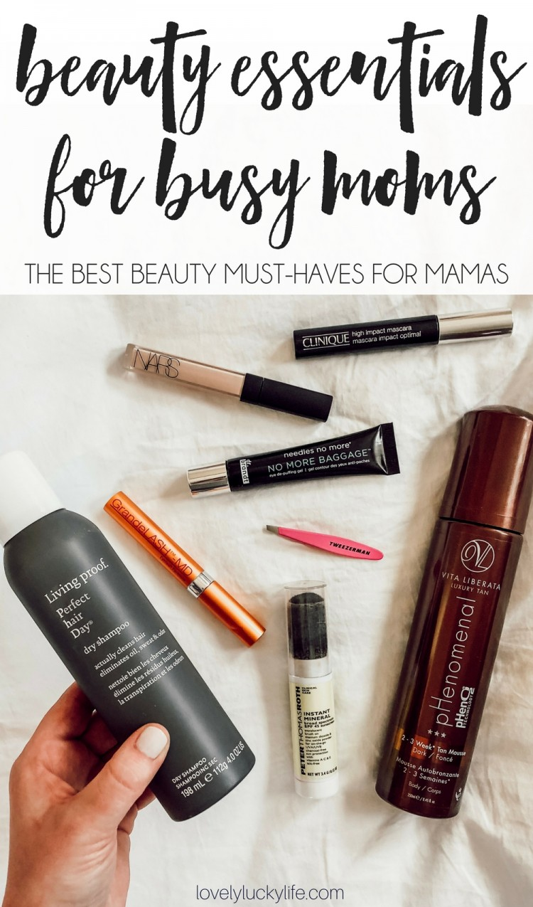 these are the best beauty must haves for moms - products to make you look less tired and a little more polished, even when you're 'momming so hard! the best beauty for busy moms
