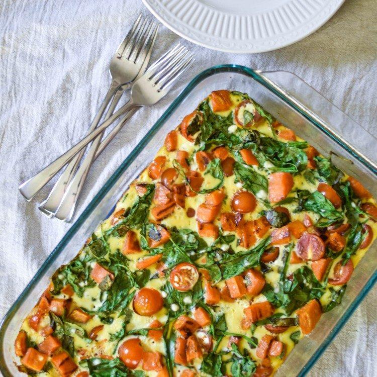 spinach breakfast casserole recipe