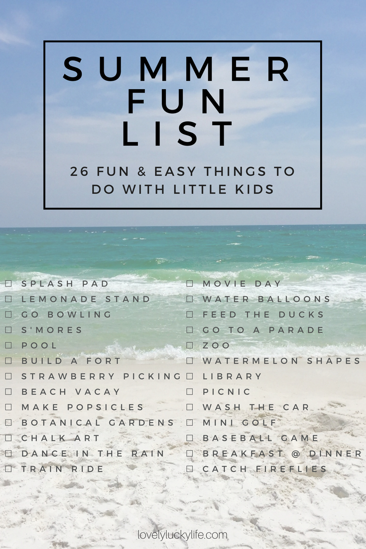 a low-key summer fun list for young kids // summer bucket list + ideas for fun summer activities