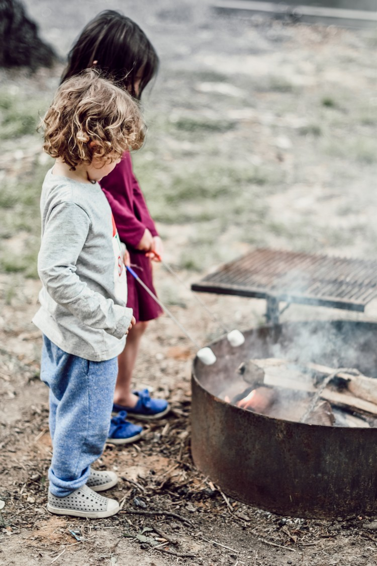 summer camping trip must-do: roast marshmallows over the fire