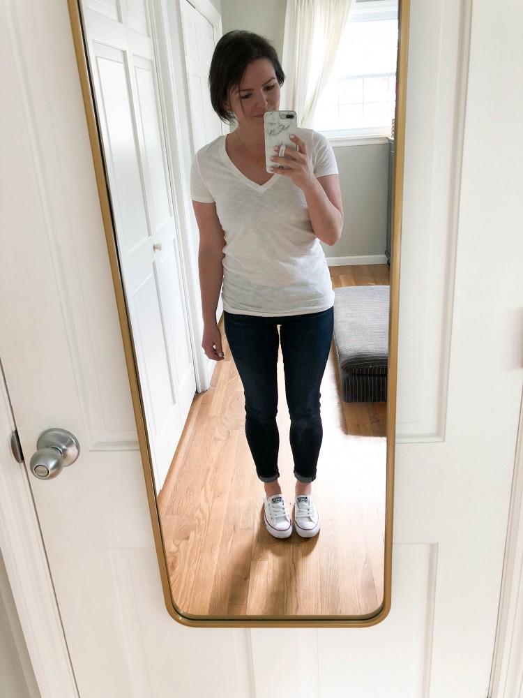 white vneck tshirt from Target