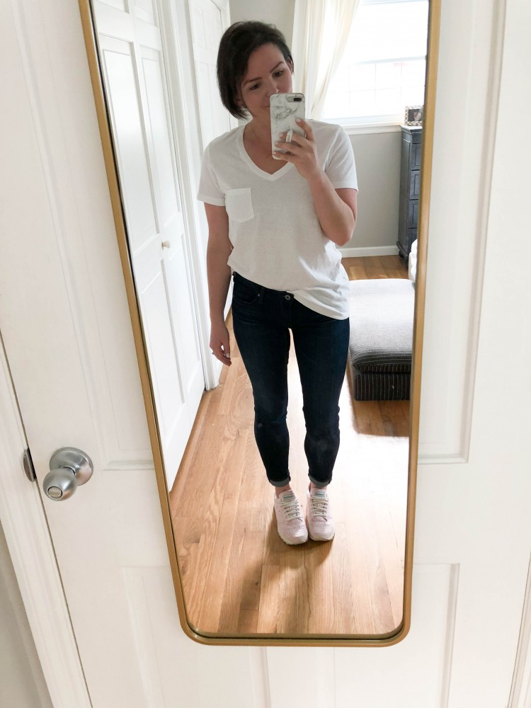 love these basic white tshirt styling ideas