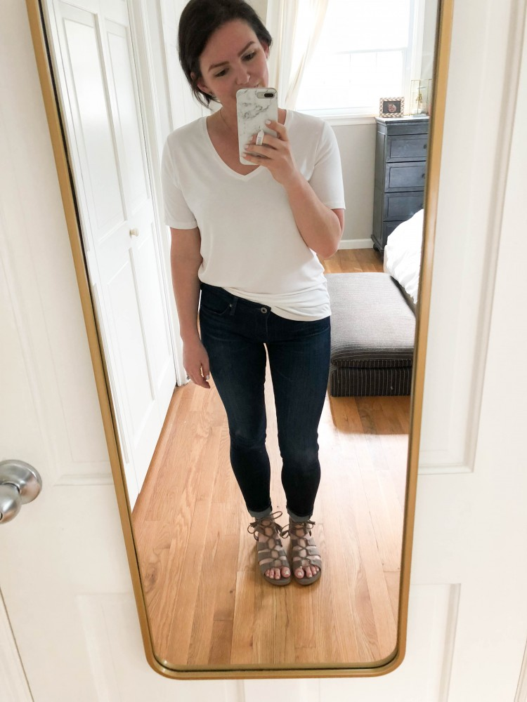 the best white tshirts that aren't see through - this try on is SO good + white tshirt outfit ideas