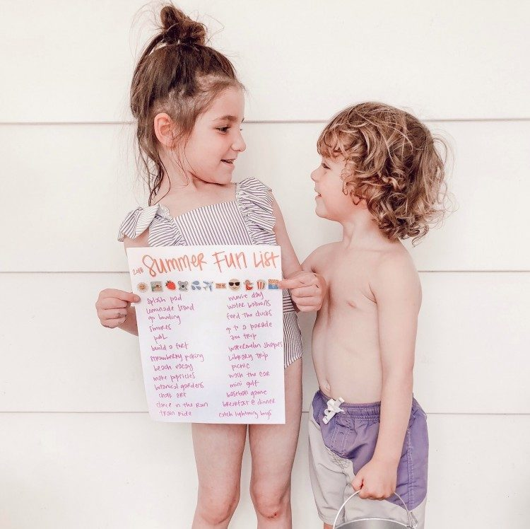 summer bucket list for little kids