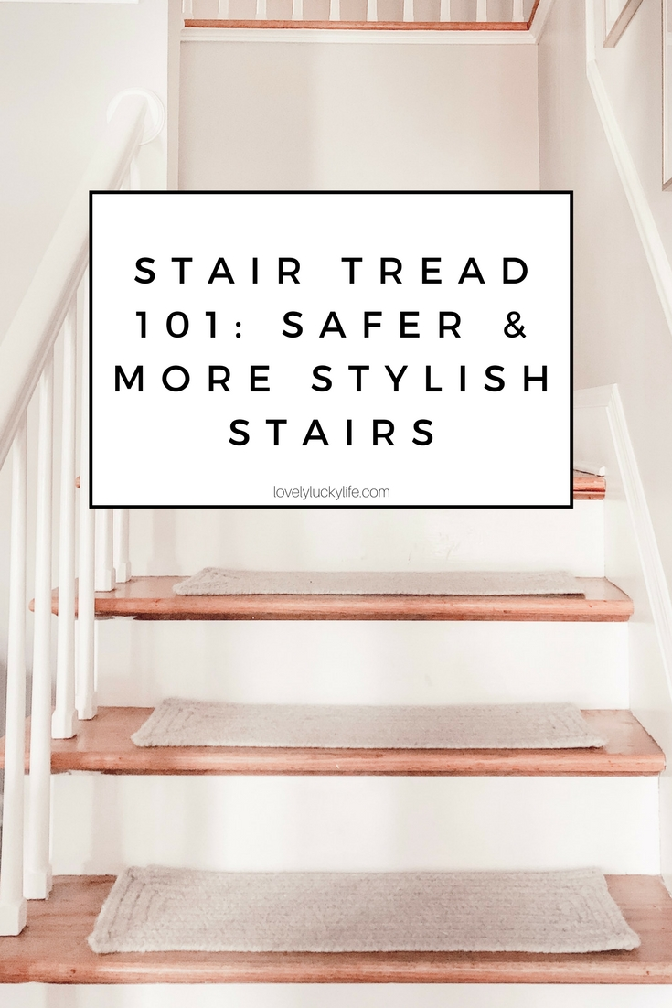 stair treads for wood stairs - why you'd want to install them, how much they cost, how to install them, and why we love our carpet stair treads #homedecor #staircase