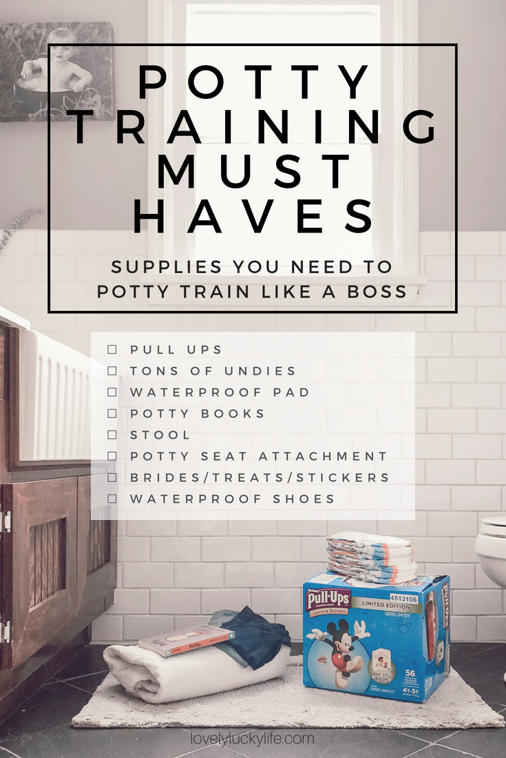 this potty training must haves & supply list is SO good! potty training stories from a mom of three