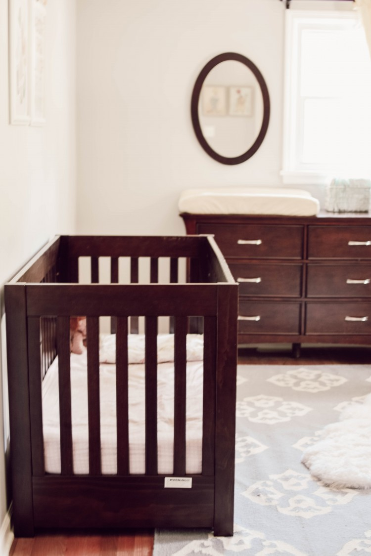 proof that a nursery with espresso baby furniture doesn't have to be dark & drab