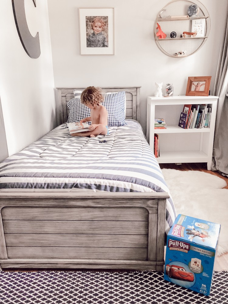 potty training must haves + love this design for a little boy's room