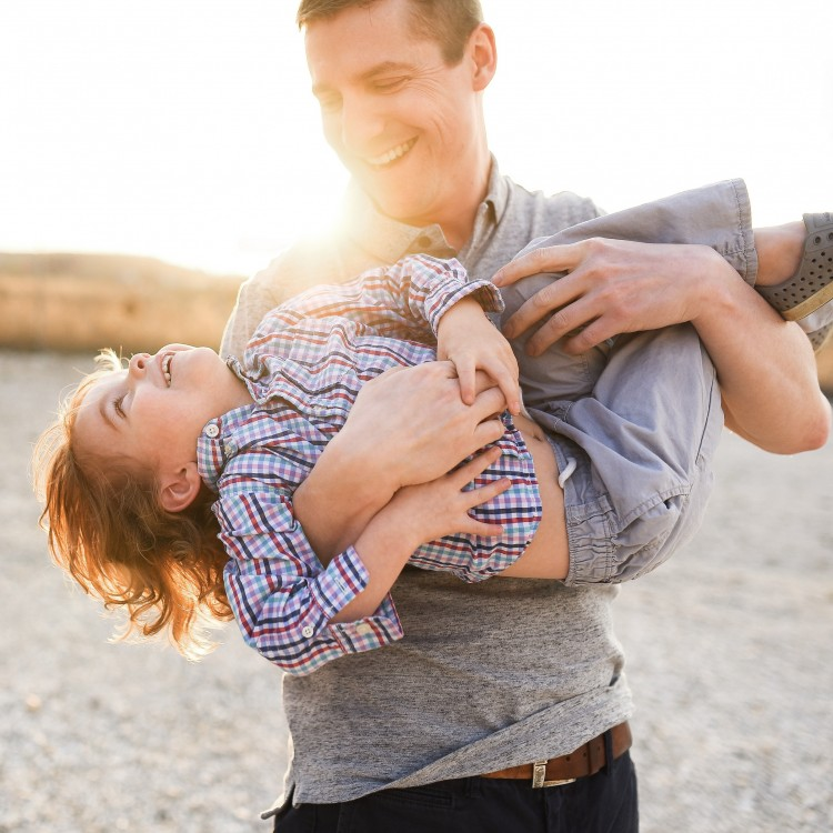 love this shot of father and son for a family portrait session!