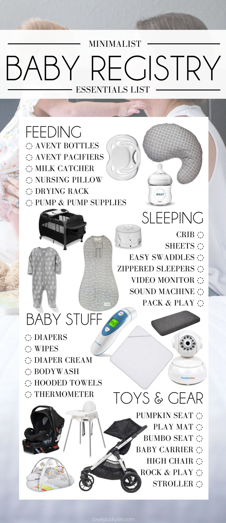 baby registry must haves from a mom of three! minimalist baby registry #babyregistry #baby #babygear
