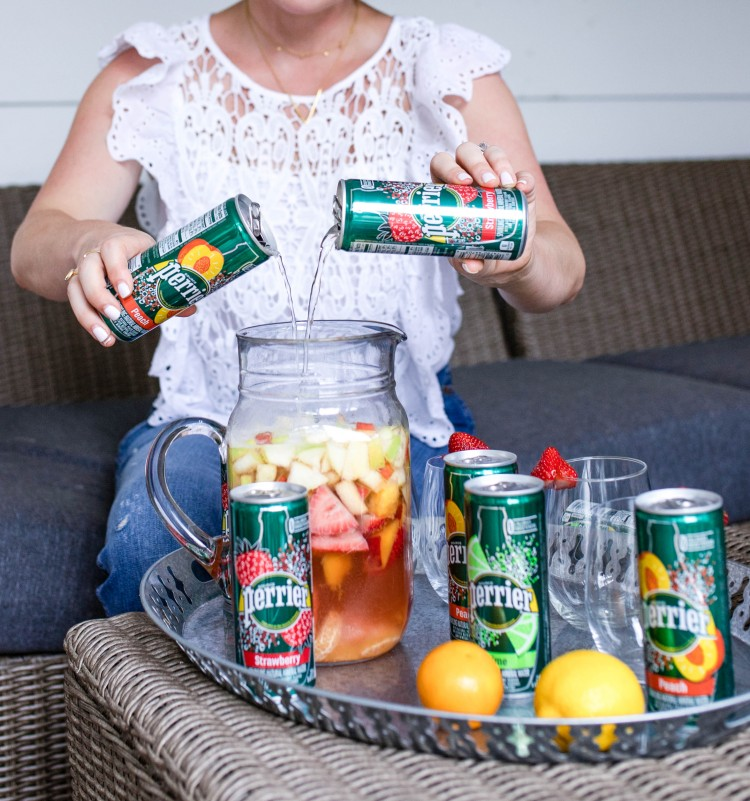 Perrier gives this healthier sparkling sangria recipe a little fun fizz #sangria #recipe #cocktail