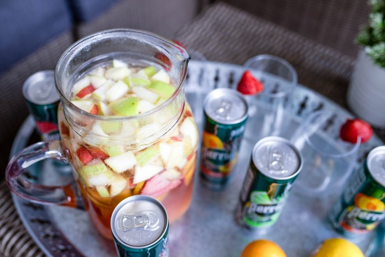 fresh fruit sangria with less sugar! #lowcarb #keto #cocktails
