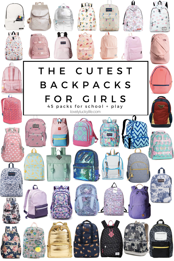 the cutest backpacks for girls! if you're looking for a cute kindergarten backpacks for girls, this list of backpacks is a must! #backtoschool