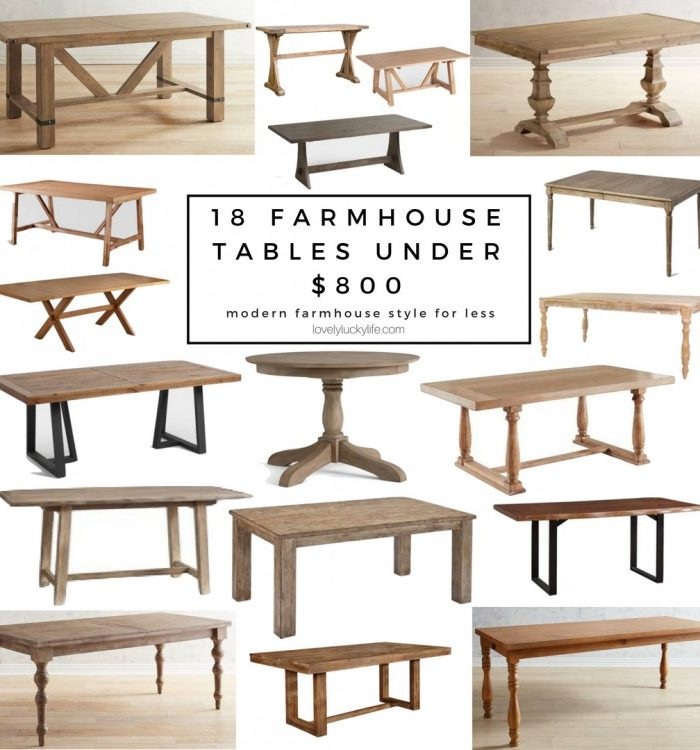 18 of the Best Modern Farmhouse Tables Under $800