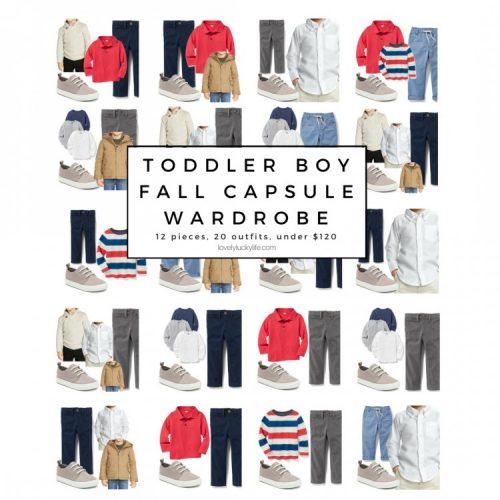 easy toddler boy capsule wardrobe