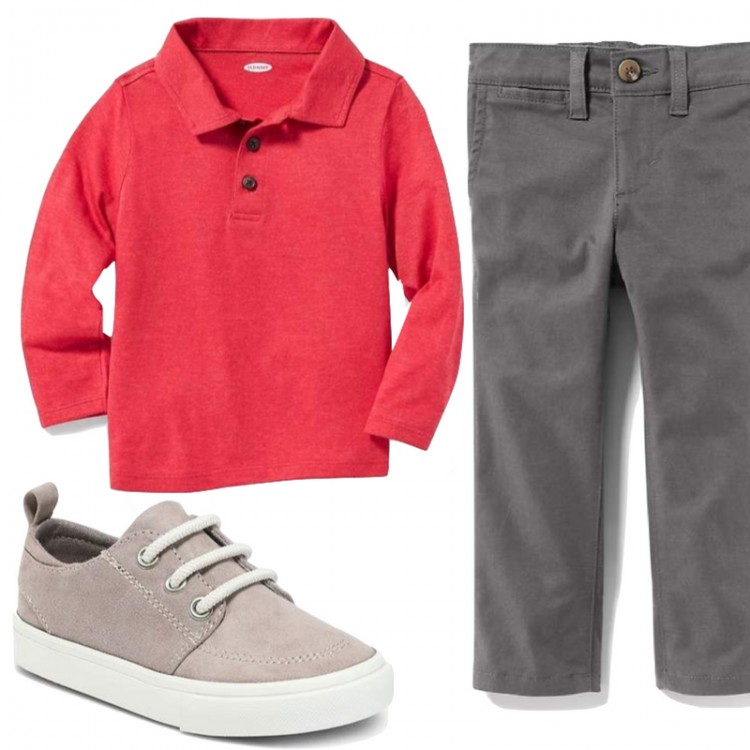 12 pieces, 20 outfits - see this mom's capsule wardrobe for toddler boys