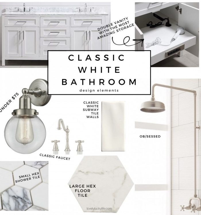 Our Master Bathroom Plan – A Classic White Bathroom Design
