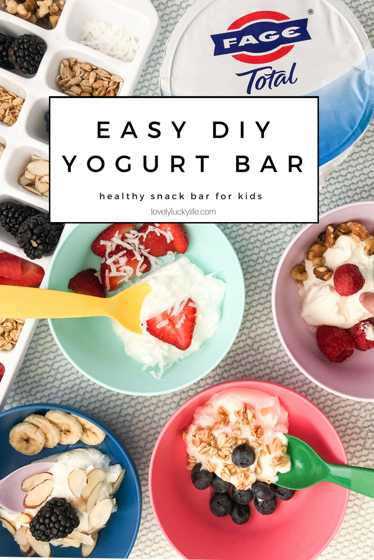 love this easy healthy snack idea for kids - let them top their own yogurt with healthy stuff like fruit, granola, etc for a protein & calcium rich snack #snackideas