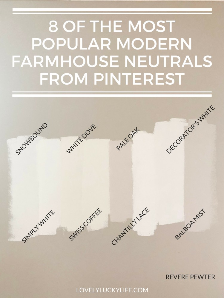 Modern Farmhouse Paint Colors For Walls Lovely Lucky Life