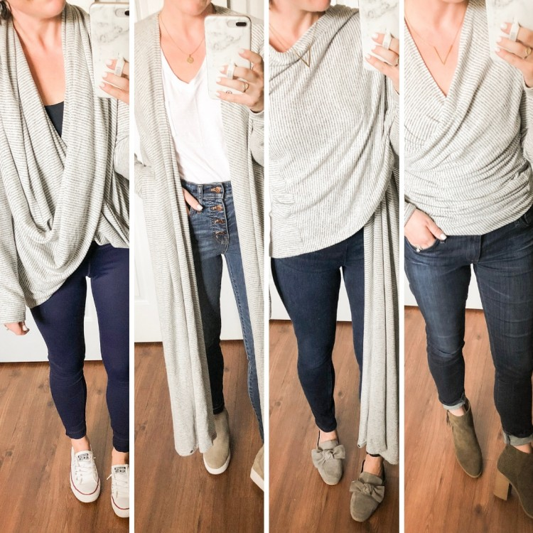 How to Wear a Wrap Sweater 4 Ways