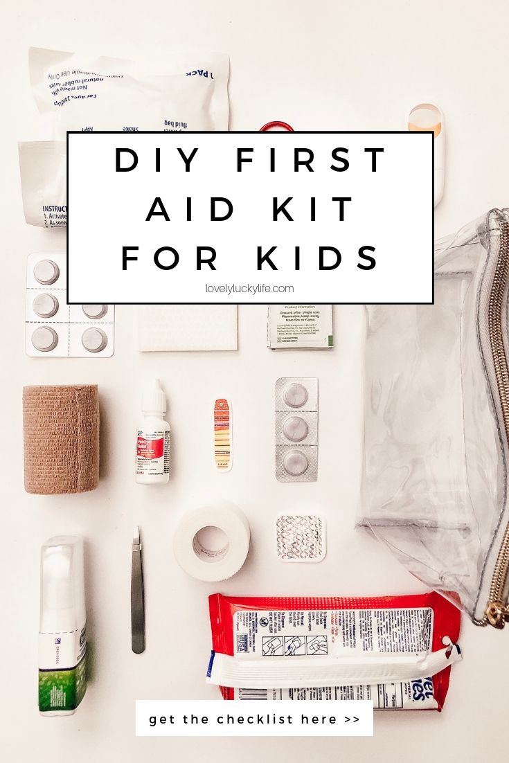 DIY first aid kit for kids - how to create your own portable first aid kit and all the safety essentials you need in a first aid kit for kids